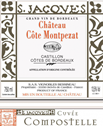 Chateau-cote-montpezat-cuvee-compostelle - Castillon - Bordeaux Wine - Fine French wine by the case. Wedding Wine, Wine Gifts, Wine Offers.